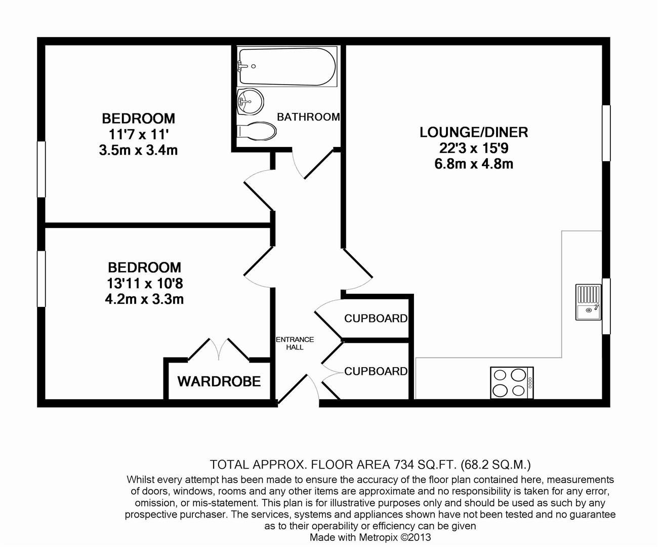 Floorplan for Black Horse Way, Horsham